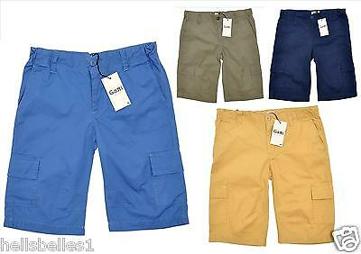 Boy's 100%  Cotton Summer Fashion Cargo Shorts With Adjustable Waist 8-16 Yrs