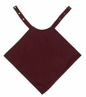 Burgundy Adult Apron Napkin Style Dignified Bib Washable Water Resistant Dignity