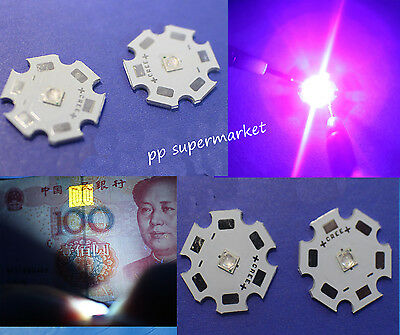 10x 3W 3 Watt Ultra Violet UV 365nm 380nm-385nm 395nm-405nm 420nm High Power LED