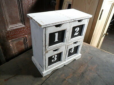 retro vintage shabby chic style small chest drawers cabinet apothecary drawers