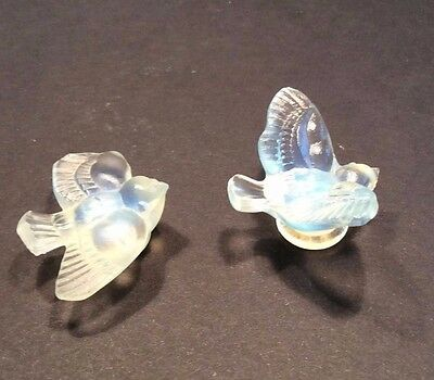 French Sabino, Opalescen Small-Mini Birds with Wings Up and Down; Set, A-49 A-50