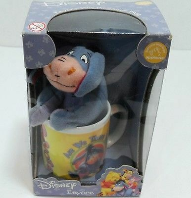 Disney-Winnie The Pooh-Mini Mug In Ceramica Con Peluche Di Ih-Oh-Applause