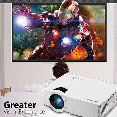 1200Lumen LED Projector 1080P 3D Home Theater HDMI/USB/SD/AV Multimedia Player