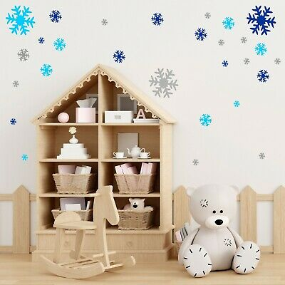 51 SNOWFLAKE wall or window stickers  Decal vinyl FROZEN Christmas kids S11