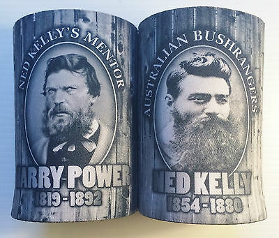 2 Awesome Ned Kelly/harry Power Stubby Holder, Man Cave, Cooler, Outlaws. Beer.