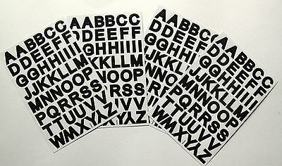 Scrapbooking No 274 - 200 Small Black Alphabet / Letters Stickers - Upper Case