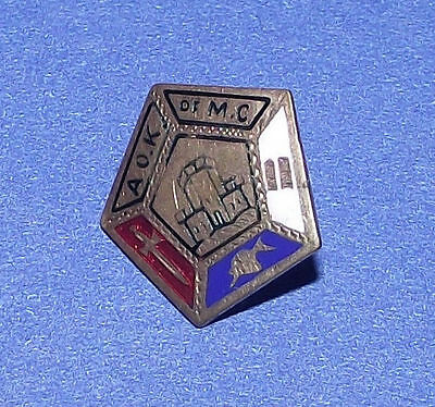 """Antique """"Ancient Order Knights of the Mystic Chain"""" AOK MC pin- lapel medal"""