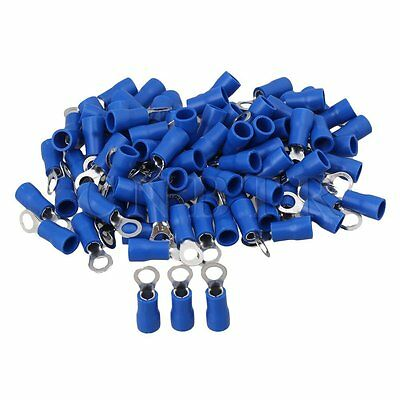 RVS2-4 Ring Insulated Crimp Connector Electrical Wiring Terminal Blue ca.100pcs