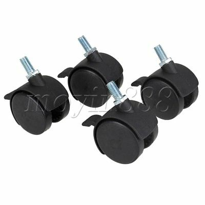 "4 x Office Chair Caster Office Home Furniture Accessories 1.5"" Swivel Wheel"