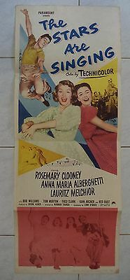 THE STARS ARE SINGING 1953 US INSERT POSTER 36x14 ROSEMARY CLOONEY