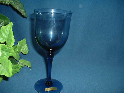 """Noritake Crystal """"REMEMBRANCE-INDIGO BLUE"""" Four (4)- 7 1/2""""  Water Goblets-NEW"""