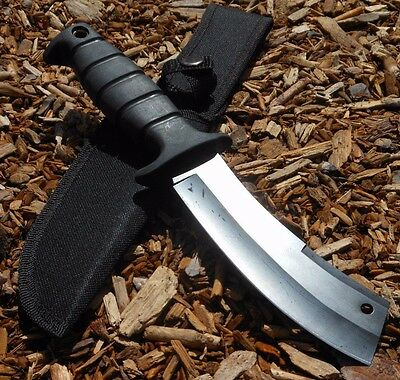"11"" HUNTING KNIFE Survival Bowie Tactical Blade Combat Outdoor Camping w/ Sheath"