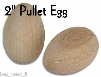 """WOOD EGGS ~ 2"""" ~ Unfinished Hardwood for Crafts { Lot of 12 } ~ by PLD"""
