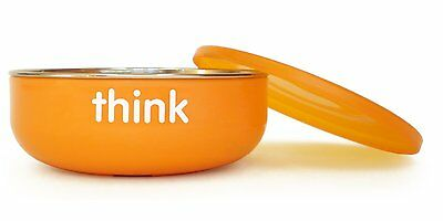 Thinkbaby Low Rise BPA Free Baby Bowl, Silver/Orange , New, Free Shipping