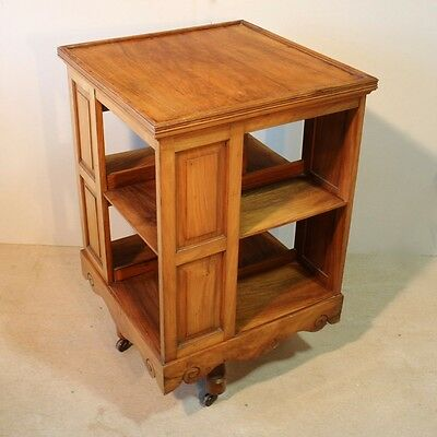 Antique Victorian Walnut Revolving Bookcase, Arts & Crafts *UK Delivery £95