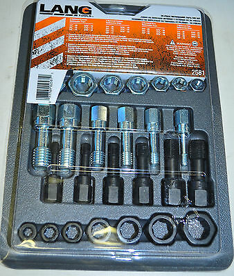 Thread Repair Restorer Tap And Die Rethreader 26 Pcs Set Lan2581 Made In Usa