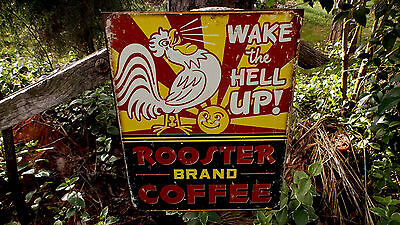 Coffee Advertising Rustic Wall Decor Vintage Tin Metal Ad Sign