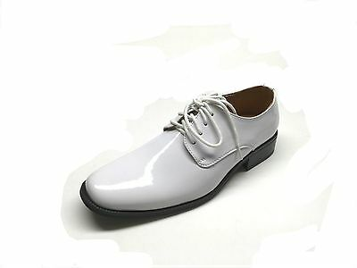 84c319510658 MENS TUXEDO FORMAL Dress Shoes Patent Leather Sz 6.5 - 15 In White ...