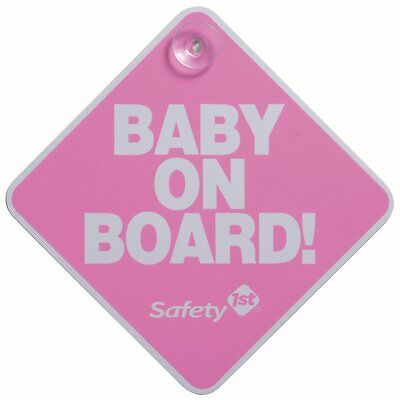 Safety 1st Baby On Board Sign, Pink , New, Free Shipping