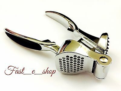 Apollo Professional Heavy Duty Stainless Steel Garlic Press Crusher.