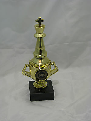 Chess  Figurine Trophy on Mini Gold Cup 180mm Engraved FREE