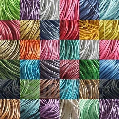 Colored Waxed HEMP String Cord Smooth Twine 1mm Jewelry Macrame Crafts Knotting