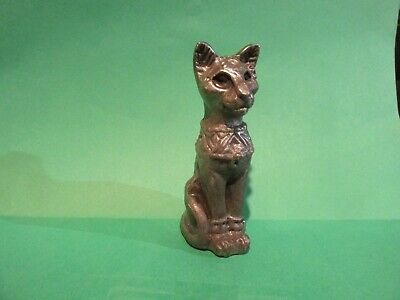 Pewter Egyptian Bast Temple Cat Hand Crafted American Made