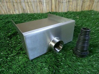 200mm Stainless Steel Waterfall WATER BLADE Cascade 130mm Spout Pond  BACK INLET