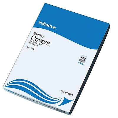 Heavy Duty Clear Binding Covers A4 100 Per Pack 250 Micron