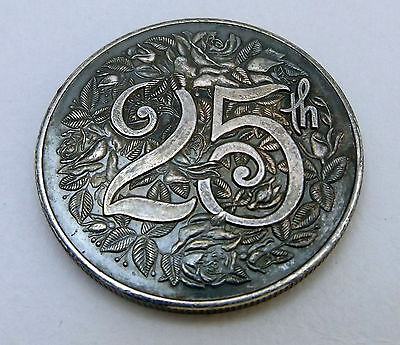 American Pacific Mint (APM) 1oz .999 silver VINTAGE round, 25th an, #VERY RARE#