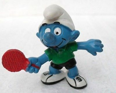 Schleich 20227-Germany Ce-Puffo Ping Pong-Schlumpfe-Smurfs-Pitufos-Puffi-Usato