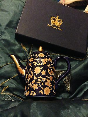 Old Tupton Ware miniture Cobalt and Gold Teapot