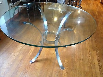 Chrome Curved Legs Ring Midcentury Modern Dining Table Italy? Rega Style