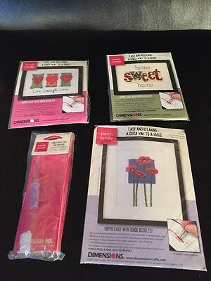 New 3 Dimensions Punch Needle Kits 2 Punch Needles Crafts Needlework stitch by