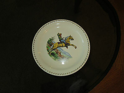 Vintage Roy Rogers Dinner Plate on Trigger, Signed, by Rodeo Universal