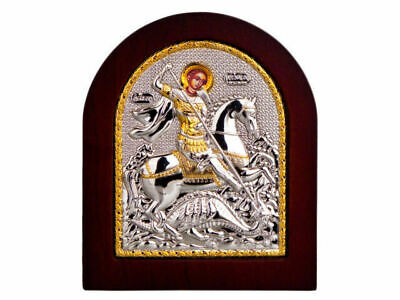Sterling silver 925 blessed new icon from Jerusalem Ikona holy st. George