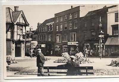 Worcestershire Ppc R/p Stourbridge. High Street And Gardens.  Not Posted.