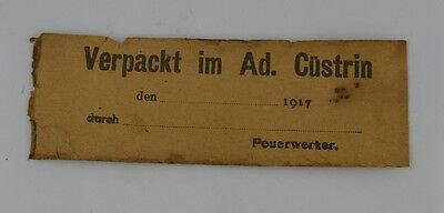 German Empire Wwi Military Transport Documents 1917 Original War Relic
