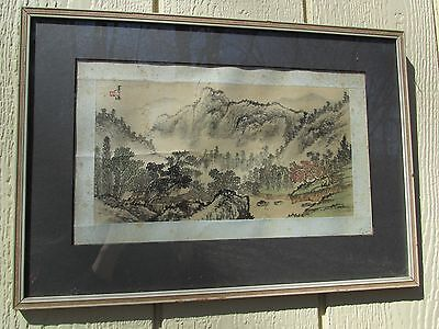 Old or Antique Chinese Painting on Silk Signed