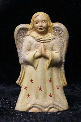 Praying Angel Chalkware Figurines Antique Chocolate Molds