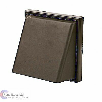 """Brown Cowl Wall Mounted Outlet + Shutter Extractor Tumble Bathrrom Fan 5"""" 125mm"""