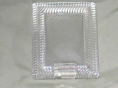 MIKASA DESIGN JAPAN GLASS CRYSTAL PICTURE FRAME 4x5 PHOTO SIZE 3.5x2.5 NEW WT1LB