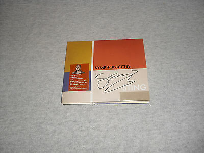 Sting - Symphonicities - Limited Autographed Album   Hand Signed   No Promo