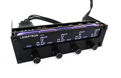 Lamptron FC6 Fan Speed Control with Digital Color Display Black