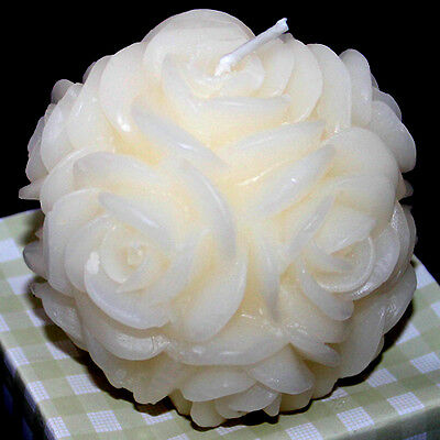 LZ0105 Handmade 3D Rose Flower Ball Silicone Candle Forms Resin,Clay Molds