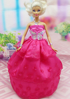 Cute GORGEOUS Handmade The original clothes dress for barbies doll C344