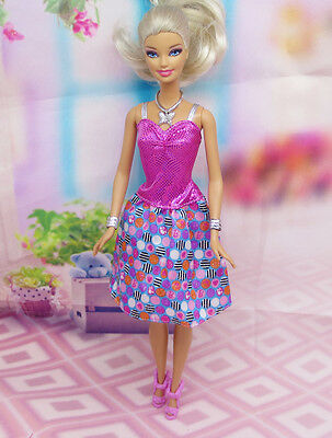 Cute GORGEOUS Handmade The original clothes dress for barbies doll C332