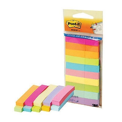 3M Post-it 670-MP Page Marker Flag Index Assorted Signets 10x50mm - 10 Colors