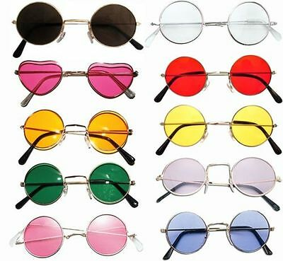 John Lennon  Style Sunglasses Shades 10 Varieties 60S 70S Hippy Fancy Dress