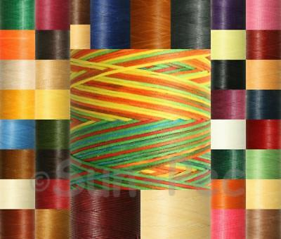 150D Waxed Linen 1mm Thread Strong Hand Stitching Leather Repair Jewelry 40Clrs